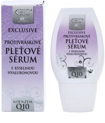 Bione Cosmetics Exclusive Q10 protivráskové sérum s kyselinou hyaluronovou 1