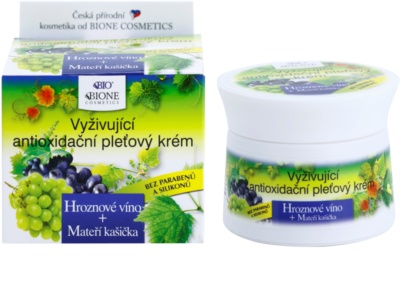 Bione Cosmetics Grapes подхранващ антиоксидантен крем за лице 2