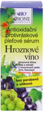 Bione Cosmetics Grapes sérum antioxidante contra as rugas sem parabenos 2