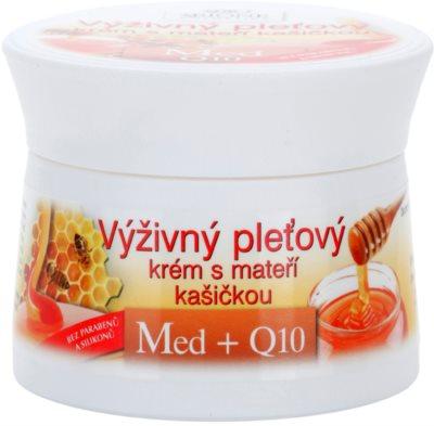 Bione Cosmetics Honey + Q10 crema nutritiva  con jalea real