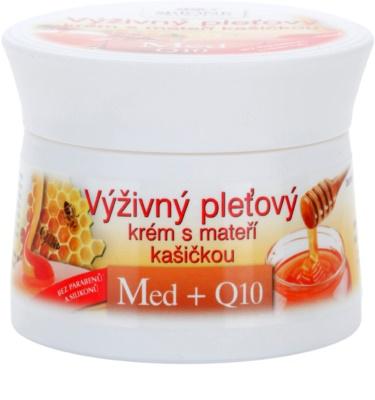 Bione Cosmetics Honey + Q10 подхранващ крем с пчелно млечице