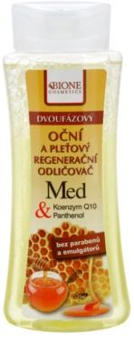 Bione Cosmetics Honey + Q10 2-Phasen Abschminkwasser für Gesicht und Augen