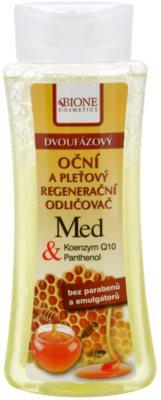 Bione Cosmetics Honey + Q10 desmaquillante bifásico  para rostro y ojos