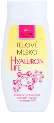 Bione Cosmetics Hyaluron Life leite corporal com ácido hialurônico com ácido hialurónico