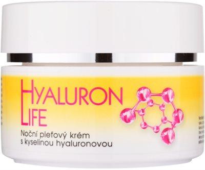 Bione Cosmetics Hyaluron Life нічний крем для шкіри обличчя з гіалуроновою  кислотою