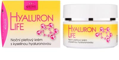 Bione Cosmetics Hyaluron Life nočna krema za obraz s hialuronsko kislino 1