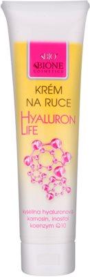 Bione Cosmetics Hyaluron Life krema za roke z regeneracijskim učinkom
