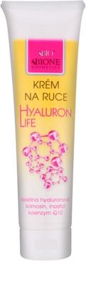 Bione Cosmetics Hyaluron Life крем за ръце  с регенериращ ефект
