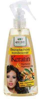 Bione Cosmetics Keratin Argan condicionador sem enxaguar em spray