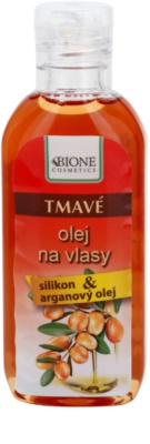 Bione Cosmetics Keratin Argan olejek do włosów ciemnych