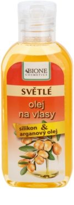 Bione Cosmetics Keratin Argan óleo para tons de cabelo claros