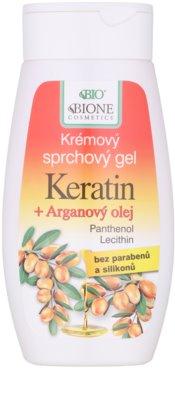 Bione Cosmetics Keratin Argan кремовий гель для душу