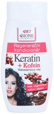 Bione Cosmetics Keratin Kofein acondicionador regenerador para cabello