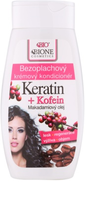 Bione Cosmetics Keratin Kofein acondicionador textura crema sin enjuague