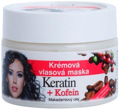 Bione Cosmetics Keratin Kofein máscara cremosa para cabelo