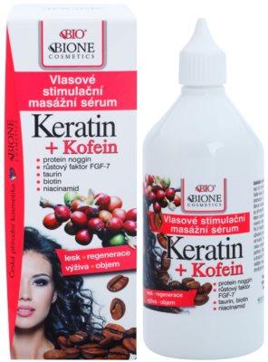 Bione Cosmetics Keratin Kofein sérum pro růst vlasů a posílení od kořínků 1