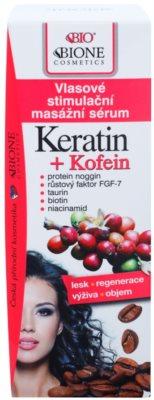 Bione Cosmetics Keratin Kofein sérum pro růst vlasů a posílení od kořínků 2