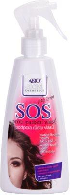 Bione Cosmetics SOS spray para estimular o crescimento saudável do cabelo desde a raiz