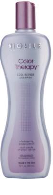 Biosilk Color Therapy Shampoo neutralisiert gelbe Verfärbungen