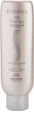 Biosilk Silk Therapy leichte Creme für dichtes Haar