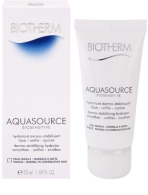 Biotherm Aquasource Biosensitive crema hidratanta pentru piele sensibila normala-combinata 1