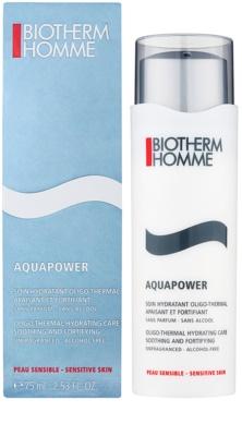 Biotherm Homme Aquapower hydratační péče pro zklidnění a posílení citlivé pleti 2