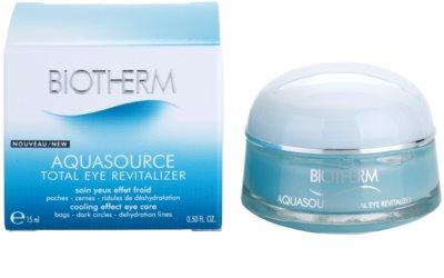 Biotherm Aquasource tratament pentru ochi umflati  cu efect racoritor 2