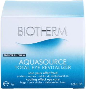 Biotherm Aquasource tratament pentru ochi umflati  cu efect racoritor 4