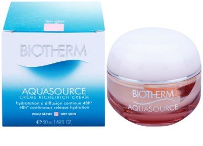 Biotherm Aquasource crema hidratante y nutritiva para pieles secas 3