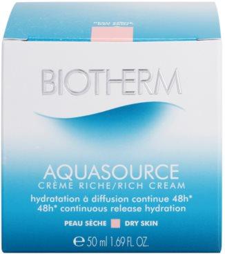 Biotherm Aquasource crema hidratante y nutritiva para pieles secas 4