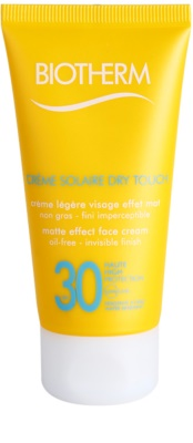 Biotherm Créme Solaire Dry Touch mattierende Sonnencreme für das Gesicht SPF 30