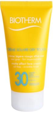 Biotherm Créme Solaire Dry Touch mattító napozó krém az arcra SPF 30