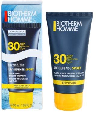 Biotherm Homme UV Defense Sport fluid za sončenje za obraz SPF 30 1