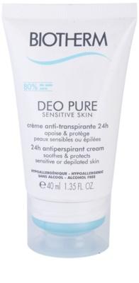 Biotherm Deo Pure antitranspirante cremoso para pele sensível e depilada