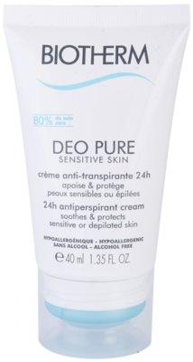 Biotherm Deo Pure krémový antiperspirant pro citlivou a depilovanou pokožku