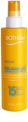 Biotherm Spray Solaire Lacté feuchtigkeitsspendendes Gel zum Bräunen SPF 15
