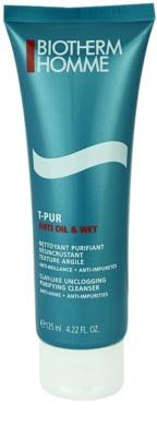 Biotherm Homme T-Pur Anti Oil & Wet gel de limpeza para pele oleosa e problemática