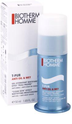 Biotherm Homme T-Pur Anti Oil & Wet hydratačný gel pre mastnú pleť 3