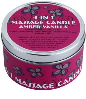 BK Beauty Body Spa Amber Vanilla Vela de massagem 4 em 1