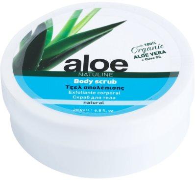 Bodyfarm Natuline Aloe telový peeling s aloe vera