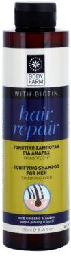 Bodyfarm Hair Repair beruhigendes Shampoo für schütteres Haar