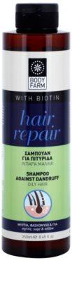 Bodyfarm Hair Repair champô anticaspa para cabelo oleoso