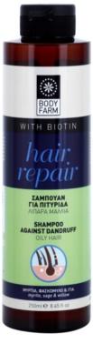 Bodyfarm Hair Repair šampon proti lupům pro mastné vlasy