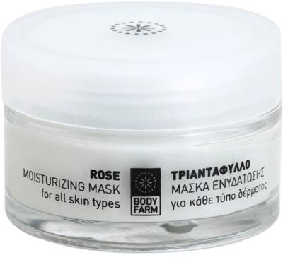 Bodyfarm Rose vlažilna maska za obraz