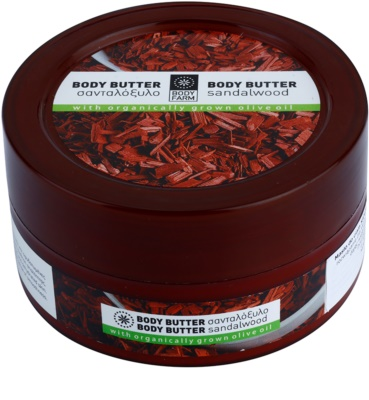 Bodyfarm Sandalwood manteiga corporal  para pele desidratada e danificada