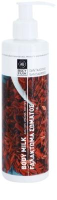 Bodyfarm Sandalwood Körpermilch für trockene und rissige Haut