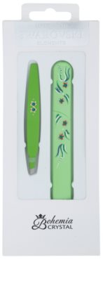 Bohemia Crystal Bohemia Swarovski Hard Painted Nail File and Tweezers coffret III.