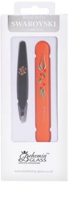 Bohemia Crystal Bohemia Swarovski Hard Painted Nail File and Tweezers kosmetická sada V.