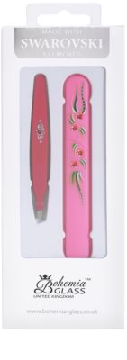 Bohemia Crystal Bohemia Swarovski Hard Painted Nail File and Tweezers Kosmetik-Set  VI.