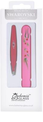 Bohemia Crystal Bohemia Swarovski Hard Painted Nail File and Tweezers kozmetika szett VI.